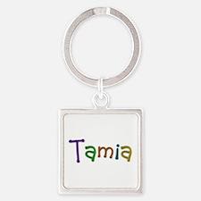 Tamia Play Clay Square Keychain