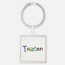 Tristen Play Clay Square Keychain