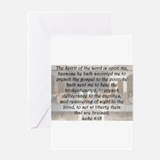 Luke 4:18 Greeting Card