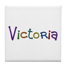 Victoria Play Clay Tile Coaster