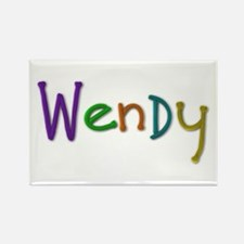 Wendy Play Clay Rectangle Magnet