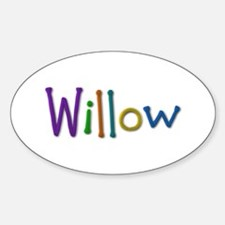 Willow Play Clay Oval Decal