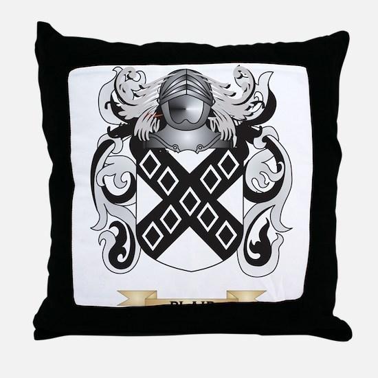 Blair Coat of Arms Throw Pillow