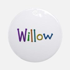 Willow Play Clay Round Ornament
