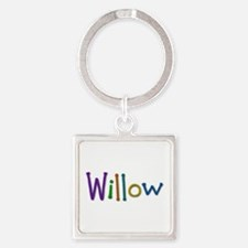 Willow Play Clay Square Keychain