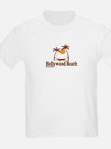 Hollywood Beach - Palm Trees Design. T-Shirt