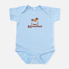 Hollywood Beach - Palm Trees Design. Infant Bodysu
