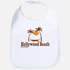 Hollywood Beach - Palm Trees Design. Bib
