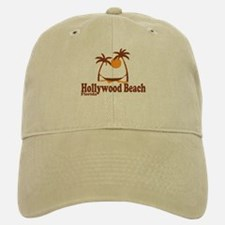 Hollywood Beach - Palm Trees Design. Baseball Baseball Cap