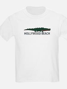 Hollywood Beach - Alligator Design. T-Shirt