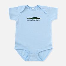 Hollywood Beach - Alligator Design. Infant Bodysui