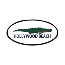 Hollywood Beach - Alligator Design. Patches