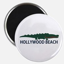 Hollywood Beach - Alligator Design. Magnet