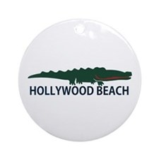 Hollywood Beach - Alligator Design. Ornament (Roun