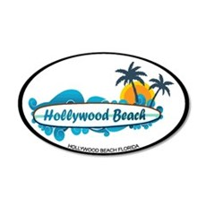 Hollywood Beach - Surf Design. Wall Decal