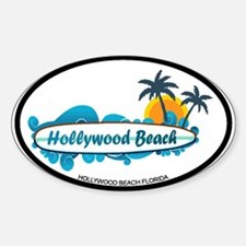Hollywood Beach - Surf Design. Decal