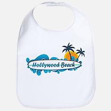 Hollywood Beach - Surf Design. Bib