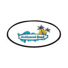 Hollywood Beach - Surf Design. Patches