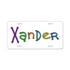 Xander Play Clay Aluminum License Plate
