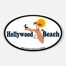 Hollywood Beach - Map Design. Decal