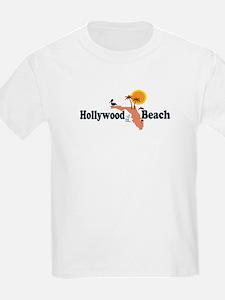 Hollywood Beach - Map Design. T-Shirt