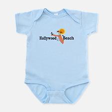 Hollywood Beach - Map Design. Infant Bodysuit