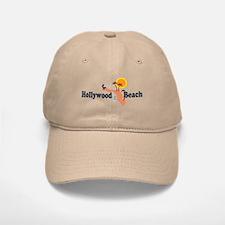 Hollywood Beach - Map Design. Baseball Baseball Cap