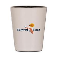 Hollywood Beach - Map Design. Shot Glass