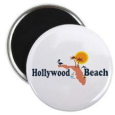 Hollywood Beach - Map Design. Magnet