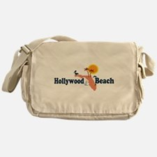 Hollywood Beach - Map Design. Messenger Bag