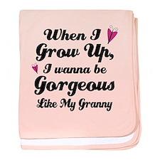Gorgeous Like My Granny baby blanket