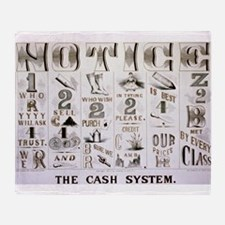 The cash system - 1877 Throw Blanket