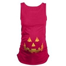 Scary Pumpkin Face Maternity Tank Top