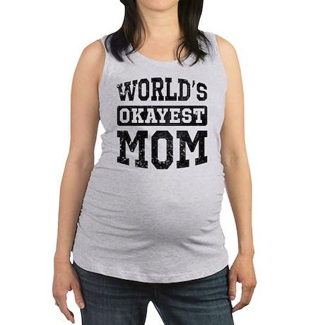 Vintage World's Okayest Mom Maternity Tank Top
