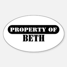 Property of Beth Oval Decal