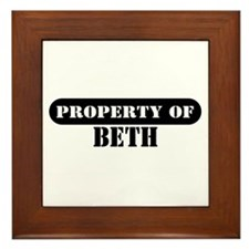 Property of Beth Framed Tile