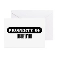 Property of Beth Greeting Cards (Pk of 10)