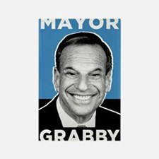Mayor Grabby San Diego Rectangle Magnet