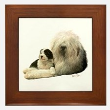 Old Eng. Sheepdog / Bobtail Framed Tile