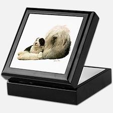 Old Eng. Sheepdog / Bobtail Keepsake Box