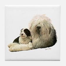 Old Eng. Sheepdog / Bobtail Tile Coaster