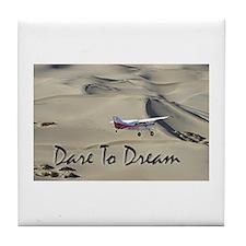 Motivational Back Country Flying Tile Coaster