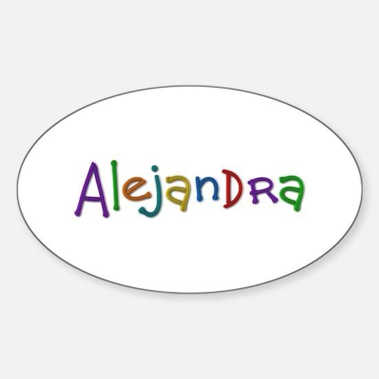 Alejandra Play Clay Oval Decal