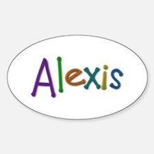 Alexis Play Clay Oval Decal