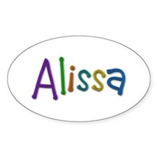 Alissa Play Clay Oval Decal