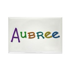 Aubree Play Clay Rectangle Magnet