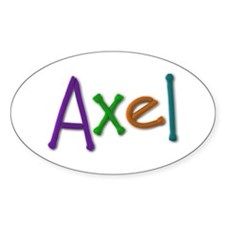Axel Play Clay Oval Decal