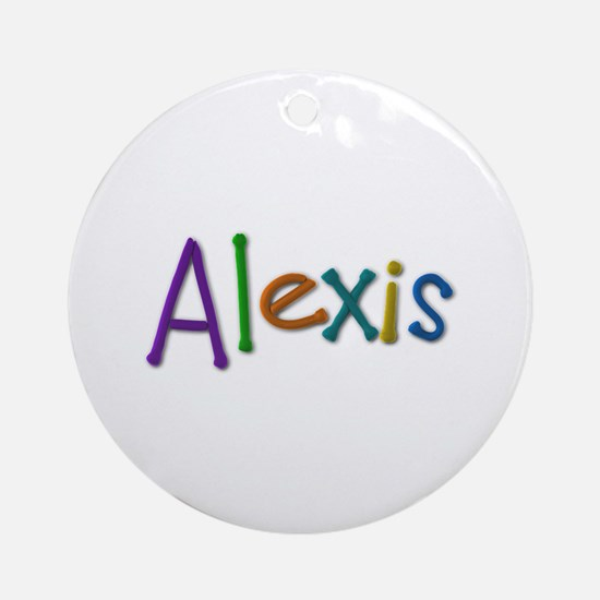 Alexis Play Clay Round Ornament