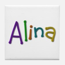 Alina Play Clay Tile Coaster