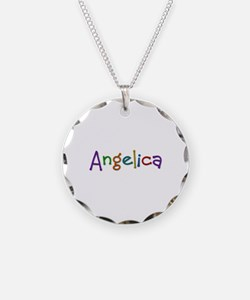Angelica Play Clay Necklace Circle Charm